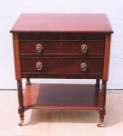 Click here to enlarge image and see more about item 181: American Two-drawer Work Table