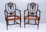 Click to view larger image of Heart Shape Shield back Dining Chairs (Image1)