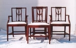 Click to view larger image of Set of 12  Sheraton Style Mahogany Dining C (Image1)