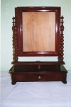 Click here to enlarge image and see more about item 190: Continental Mahogany Shaving Mirror