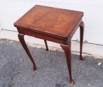 Click here to enlarge image and see more about item 194: Walnut Game Table