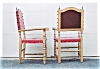 Click to view larger image of A pair of Gold painted armchairs. (Image3)