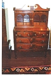 Click here to enlarge image and see more about item 206: Federal mahogany secretary bookcase