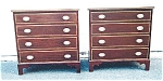 Click here to enlarge image and see more about item 302: A pair of Chippendale chests