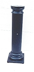 Click here to enlarge image and see more about item 303: Fluted and ebonized pedestal.