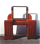 Click to view larger image of A mahogany and ebonized mirror (Image1)