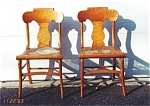 Click here to enlarge image and see more about item 328: A Pair of Birds Eye Maple Chairs