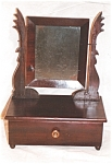 Click here to enlarge image and see more about item 336: American one drawer shaving mirror