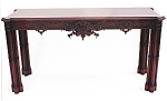 Click here to enlarge image and see more about item 353: Carved Chippendale Mahogany Sideboard Table.