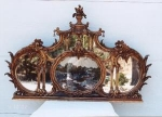 Click here to enlarge image and see more about item 50:   Chinese Chippendale Mirror