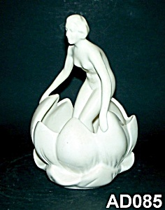 "6"" Art Deco Nude Lady Flower Frog (Germany)"