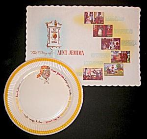 Aunt Jemima Paper Plate & Place Mat (Image1)