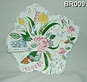 "Blue Ridge ""Verna"" Maple Leaf China Cake Tray (Image1)"
