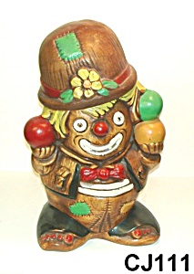 "13"" Clown Juggler Cookie Jar (Twin Winton)"