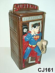 Superman in Phone Booth Cookie Jar (Image1)