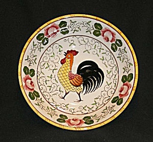 "Rooster and  Roses  10"" Serving Bowl (Image1)"