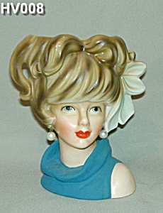 """7"""" Young Lady Head Vase (Image1)"""
