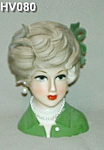 "7"" Young Lady Head Vase (Image1)"