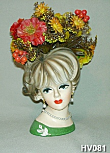"6"" Young Lady Head Vase (Image1)"