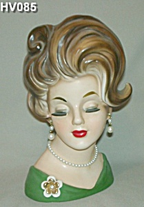 "10 1/2"" Lady Head Vase (Very Rare) (Image1)"