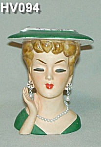 "5"" Lady Head Vase (Image1)"