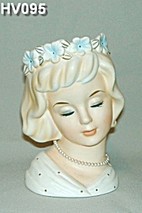 "6 1/2"" Young Lady Head Vase"