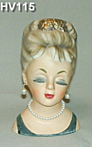 "6 1/2"" Young Lady Head Vase (Image1)"