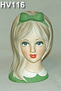 "NAPCOWARE 6"" Young Lady Head Vase (Image1)"
