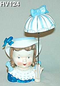 Little Umbrella Girl Head Vase (Image1)