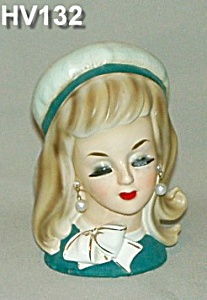 "6"" Young Girl/Lady Head Vase (Image1)"