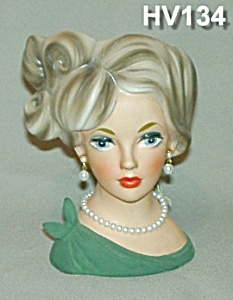 """6"""" Young Lady Head Vase (Image1)"""