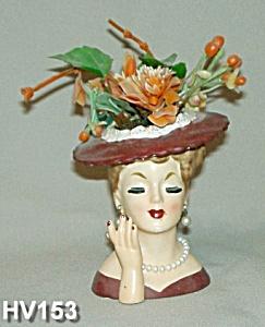 "5"" Lady Head Vase NAPCO (Image1)"