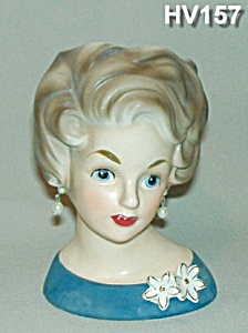 "6"" Young Lady Head Vase"