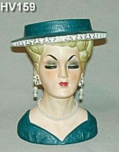 "7"" Lady Head Vase (Image1)"