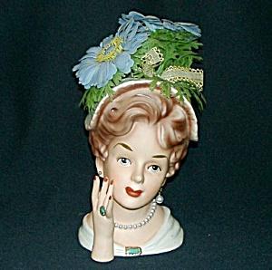 """7"""" Relpo Lady Head Vase (Image1)"""