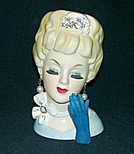 "6"" Lady Head Vase (Image1)"