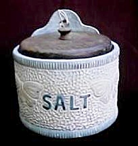 Blue and White Stoneware Salt Box (Image1)