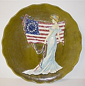 "15"" Unitied States Centennial Majolica Plate (Image1)"