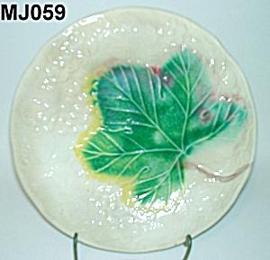 "8"" Majolica Leaf Plate (Image1)"