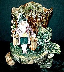 """5 3/4"""" Majolica Frenchman Vase (Image1)"""