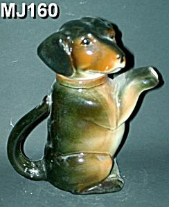 "Majolica ""Erphila"" Dog Teapot (Image1)"