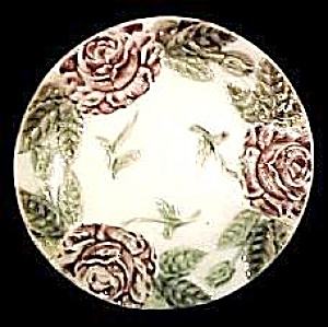 Majolica Floral Plate (Image1)
