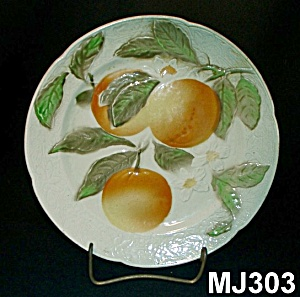 "8"" Majolica ""peaches"" Plate"
