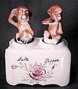Monkey Salt & Pepper Shaker Nodders