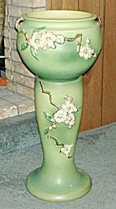 "Roseville ""Apple Blossom"" Jardiniere/Pedestal (Image1)"