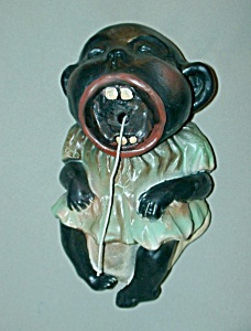 Vintage Crying Black Baby String Holder
