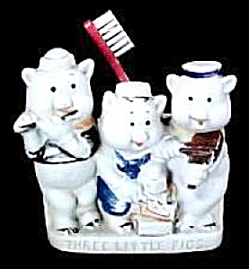 """three Little Pigs"" Toothbrush Holder"