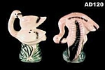 Click here to enlarge image and see more about item AD120: Flamingo Salt & Pepper Shakers