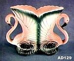 Click here to enlarge image and see more about item AD129: Flamingo Vase