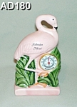 "Click here to enlarge image and see more about item AD180: ""Galveston Island"" Flamingo Thermometer"